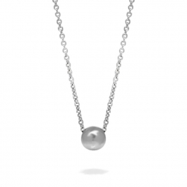 Jewelry Trends Single Silver Bead Necklace Stainless Steel Special gift for Her