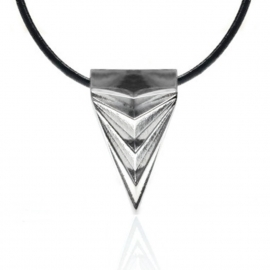 Trendsetter Jewelry Silver Triangle Unique Necklace