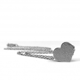 Cool Stainless Steel Womens Silver Heart Necklace