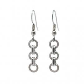 Surgical Stainless Steel Circle Dangle Earrings for Women