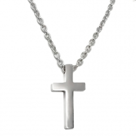 Plain Silver Catholic Cross Religious Jewelry for Man