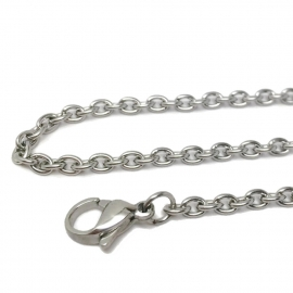 Silver Thick Necklace Chain Only for Him Great Gift Idea