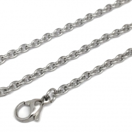 Hypoallergenic Guys Necklace Chain Only No Pendant