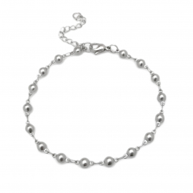 Silver Bubble Tennis Bracelet Non Tarnish Womens