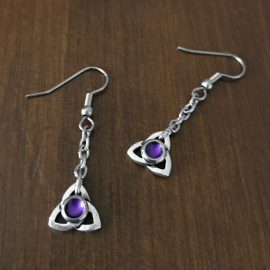 Dark Purple Irish Mystical Wiccan Pagan Fall 2019 Earrings