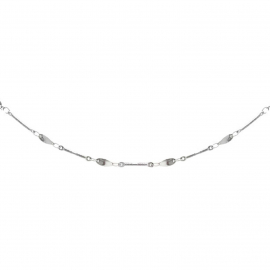 Unique Necklace Chains Silver for Women Artsy Style Handcrafted