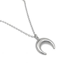 Upside down Reversed Half Crescent Moon Jewelry Women Enlightenment,