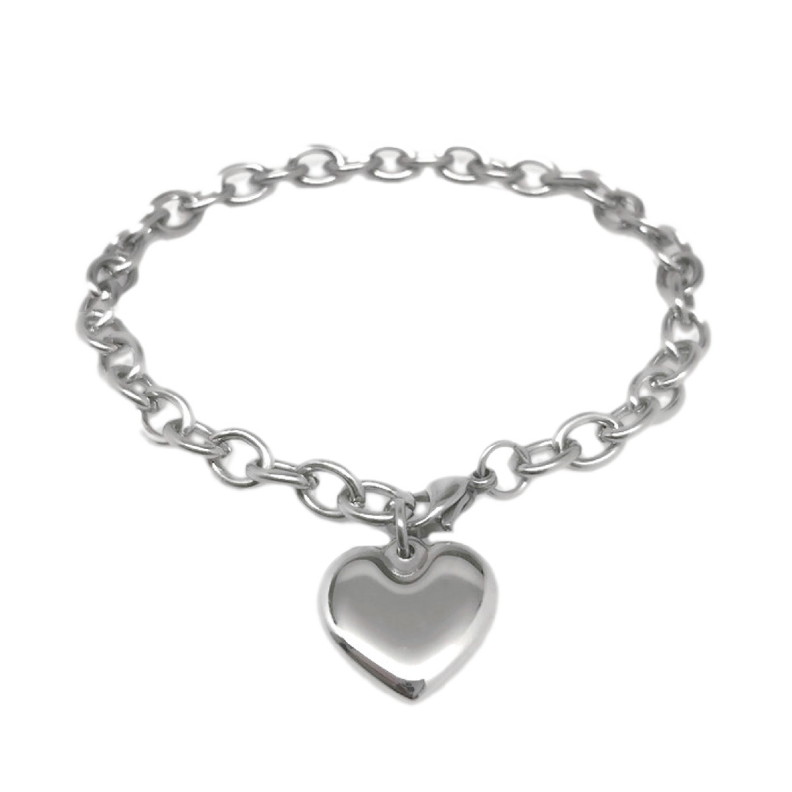 Silver Heart Charm Love Promise Committment Jewelry For Fiend Wife