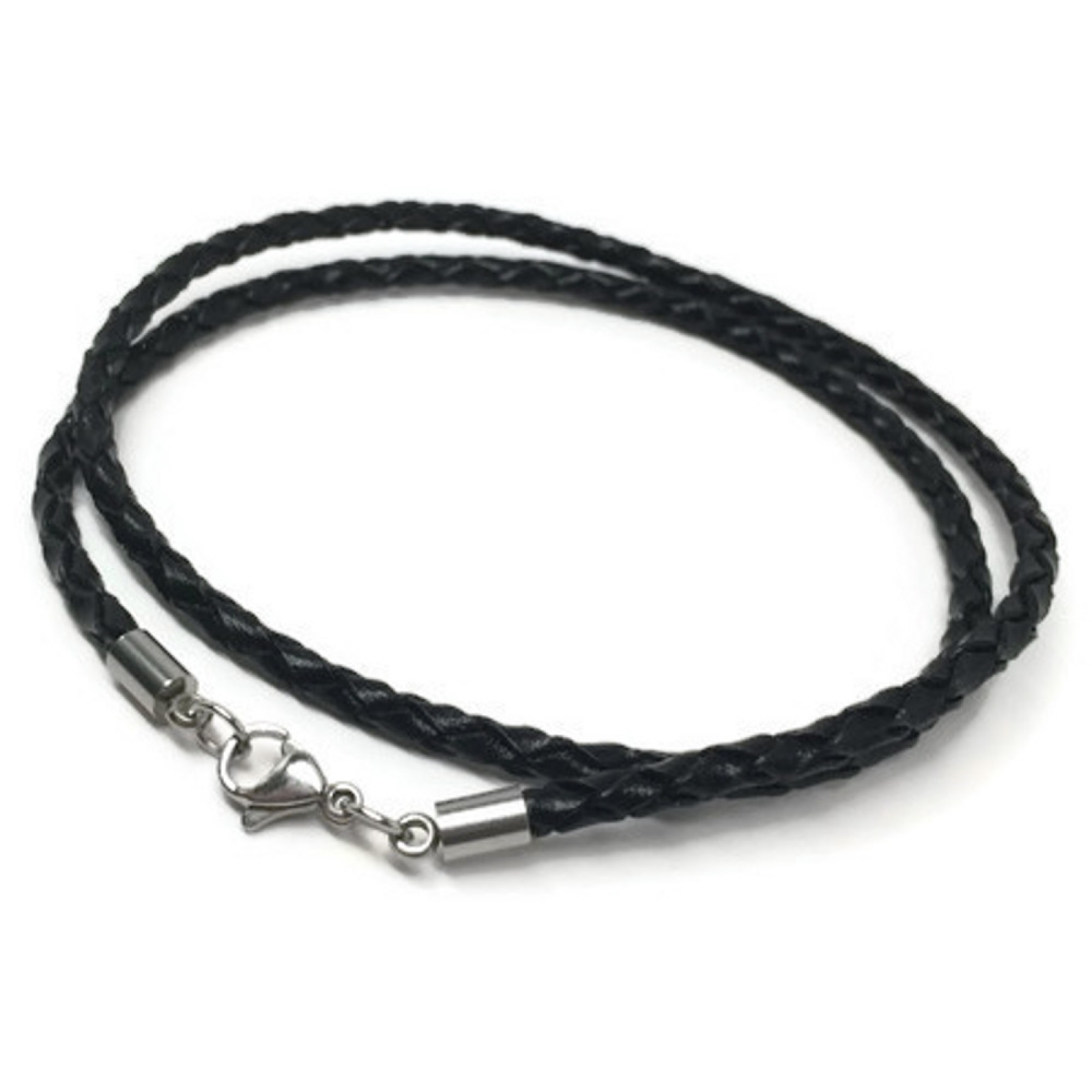 leather sweet necklace index pearl product single black jewelry one dainty with