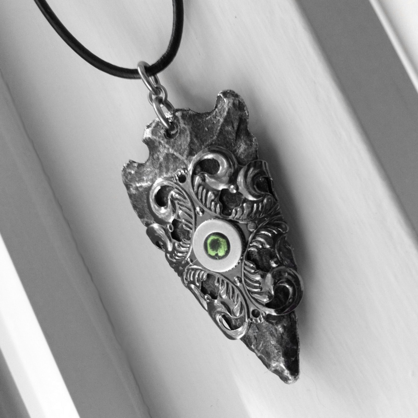Tvd season 5 jewelry arrowhead necklace gothic filigree design silver arrowhead necklace mens jewelry mozeypictures Gallery