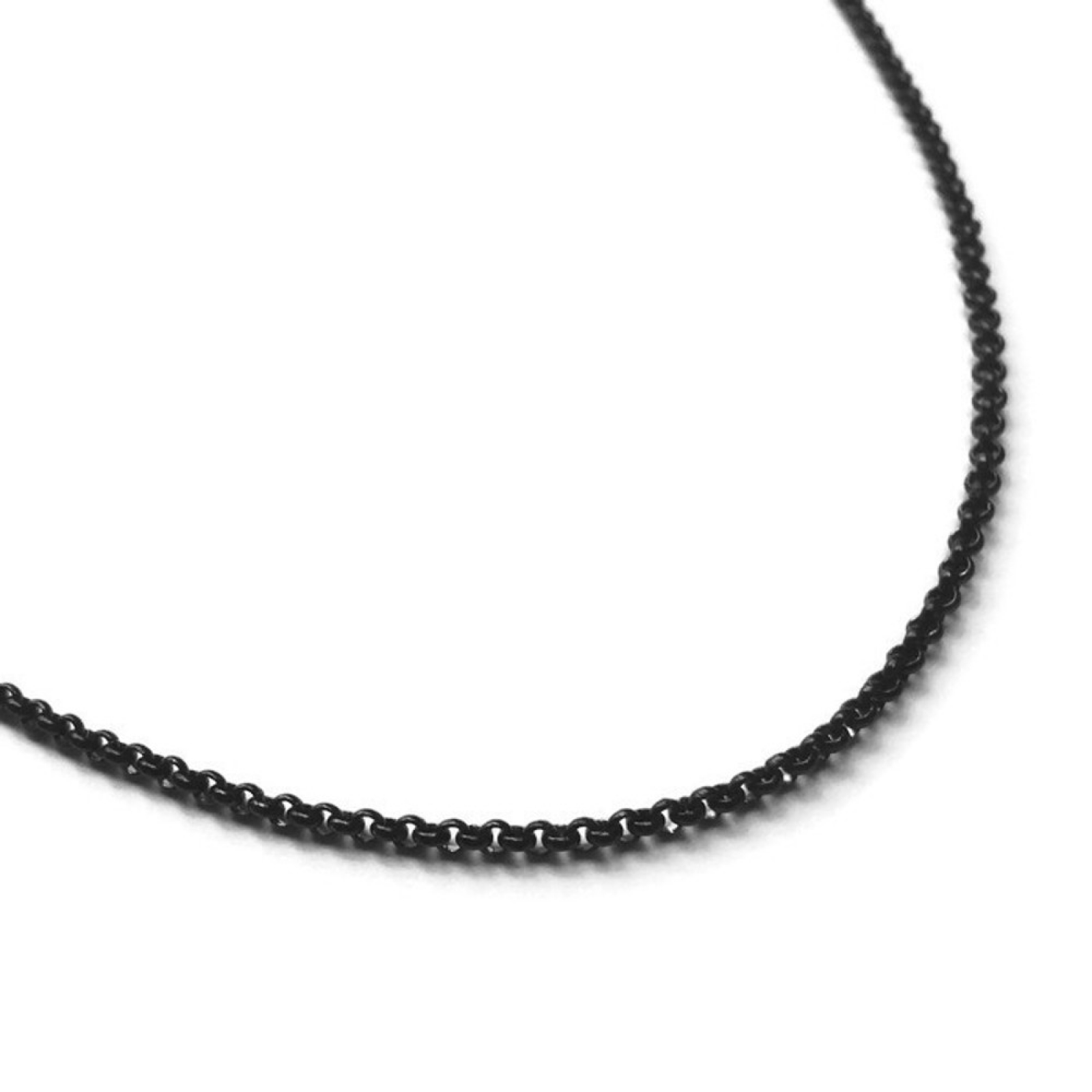 design inches style stainless punk thin chain easy jewelry steel womens product accessory black layering rolo necklace