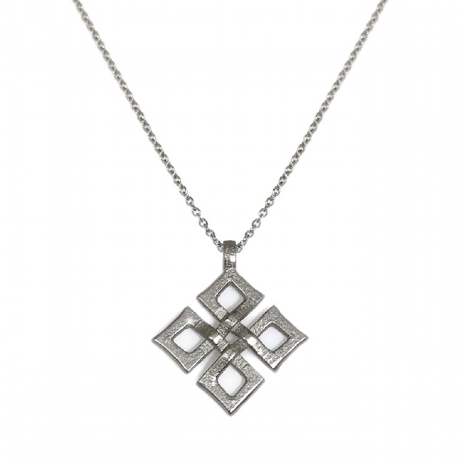diamond necklace knot pendant trinity white gold products