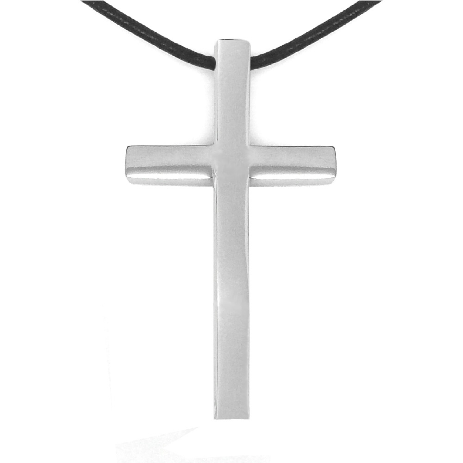 Silver rugged mans jewelry christian unique slide style large large silver 316l hypoallergenic religious cross necklace aloadofball Gallery
