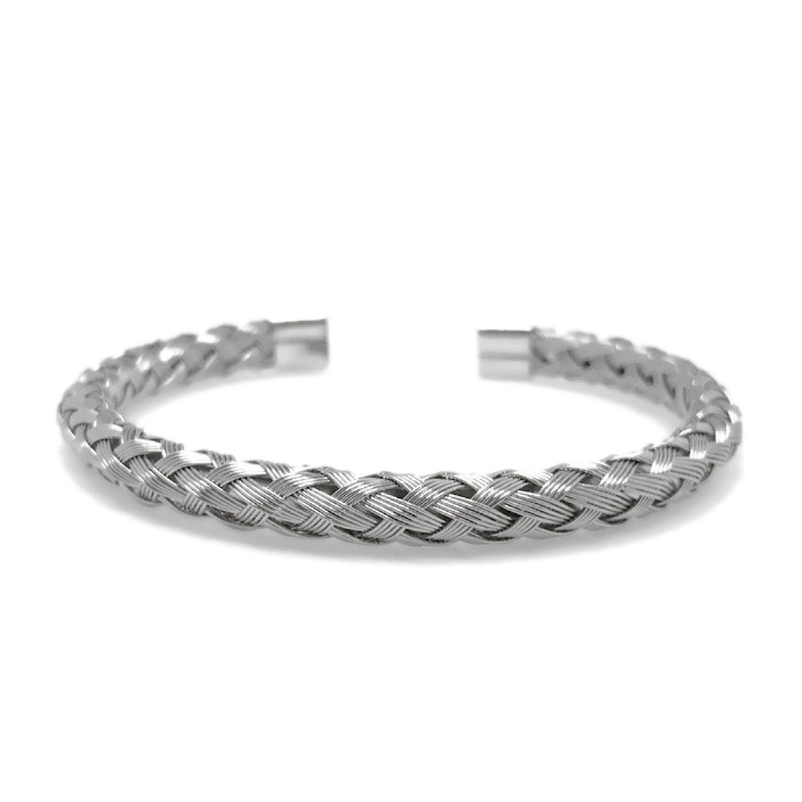 steel bangle cuff loralyn wire unisex stainless round bangles jewelry product for girls silver teen gifts large men braid braided love neverending womens metal woven bracelet unique women