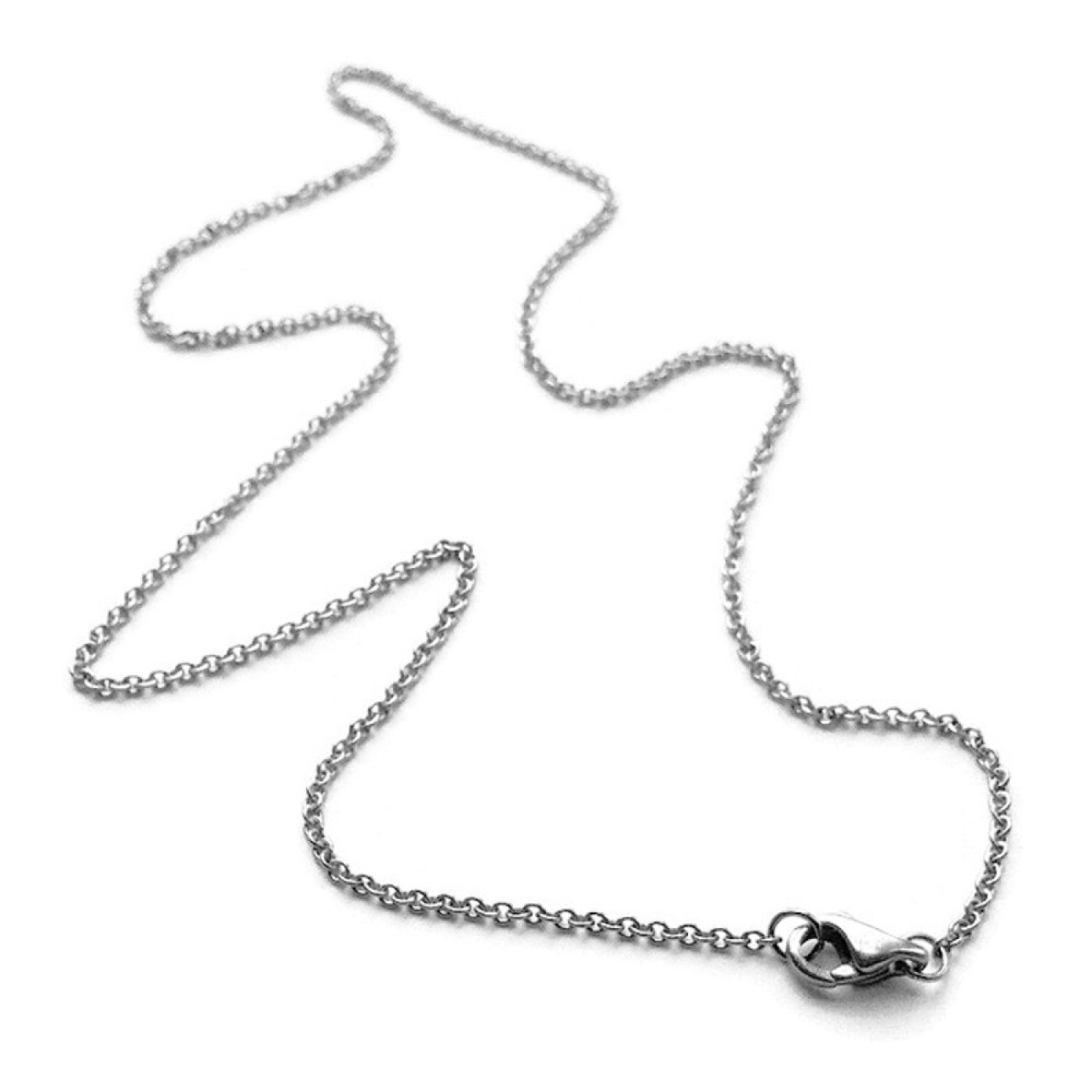 16 to 24 Inch Necklace Chain for Her Silver Steel Thin Cord ...