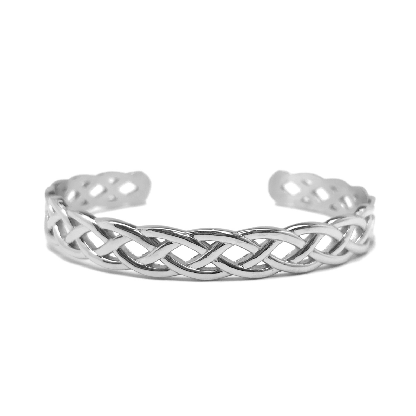 083f07f9fdf Braided Silver Stainless Steel Infinity Cuff Bangle Bracelet for Women