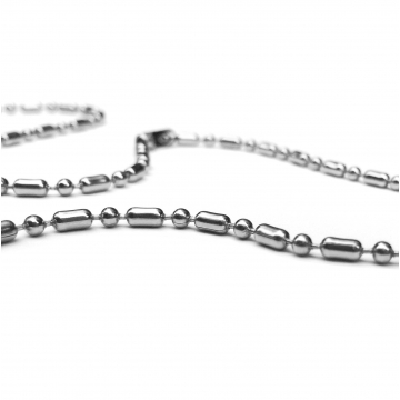 Stainless Steel Bamboo Design Bead Chain (2.4mm) 16 - 30 inch lengths