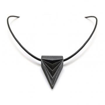 Black Steel Triangle Necklace as Seen on The Vampire Diaries