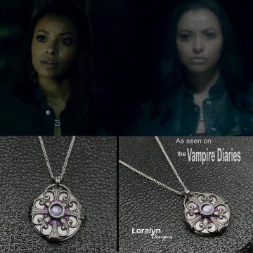 Bonnie Medieval Filigree Circle Necklace - As Seen on The Vampire Diaries