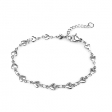 Adjustable Heart Bracelet Stainless Steel