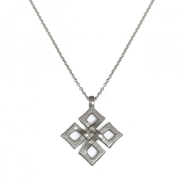 Womens Modern Celtic Knot Pendant Necklace Stainless Steel