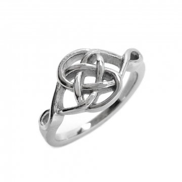 Womens Stainless Steel Fancy Celtic Knot Ring (Sizes 5 - 10)