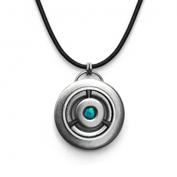 Mens Stainless Steel Industrial Pendant Necklace