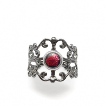 Womens Adjustable Filigree Ring - Resin Center