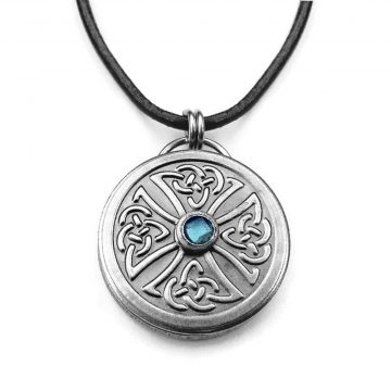 Stainless Steel Celtic Knot Cross Necklace as Seen on The Vampire Diaries