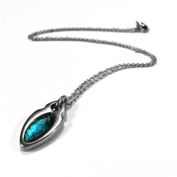 Stainless Steel Simple Oval Necklace