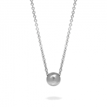 Simple One Bead Necklace Stainless Steel