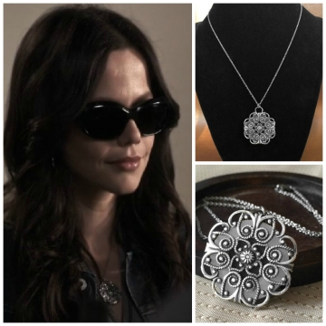 Necklace As seen On Pretty Little Liars - Reversible Silver Mandala Filigree Pendant