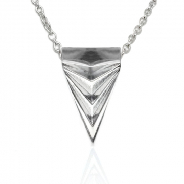 Mens Geometric Triangle Dagger Necklace Stainless Steel