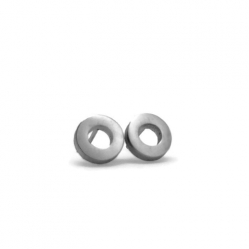 Small Stainless Steel Donut Stud Earrings