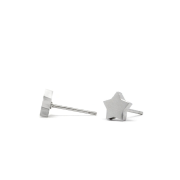 Cute Tiny Stainless Steel Star Stud Earrings
