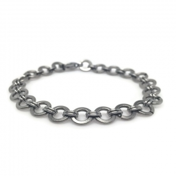 Brushed Steel Simple Chainmaille Bracelet