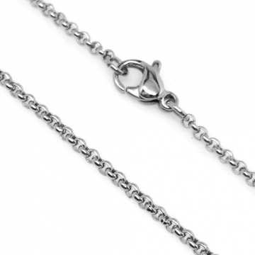 Thin Stainless Steel Round Rolo Link Necklace Chain