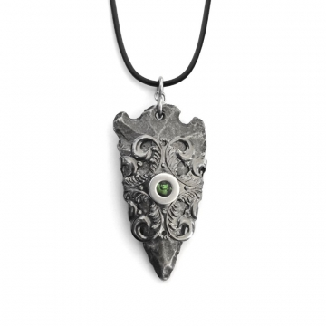 As seen on The Vampire Diaries Medieval Arrowhead Necklace Gothic Filigree Design