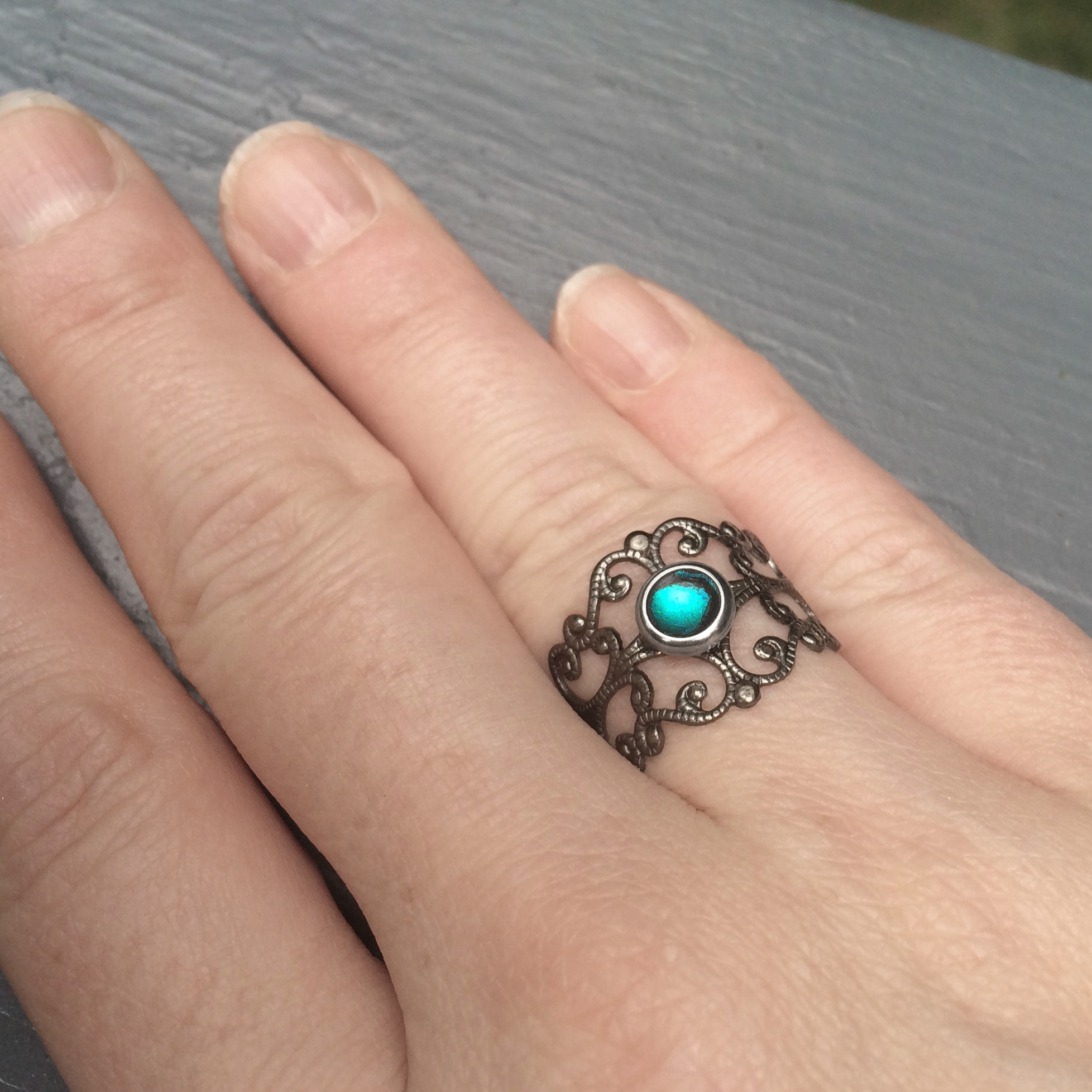 Teal Wedding Rings Pictures