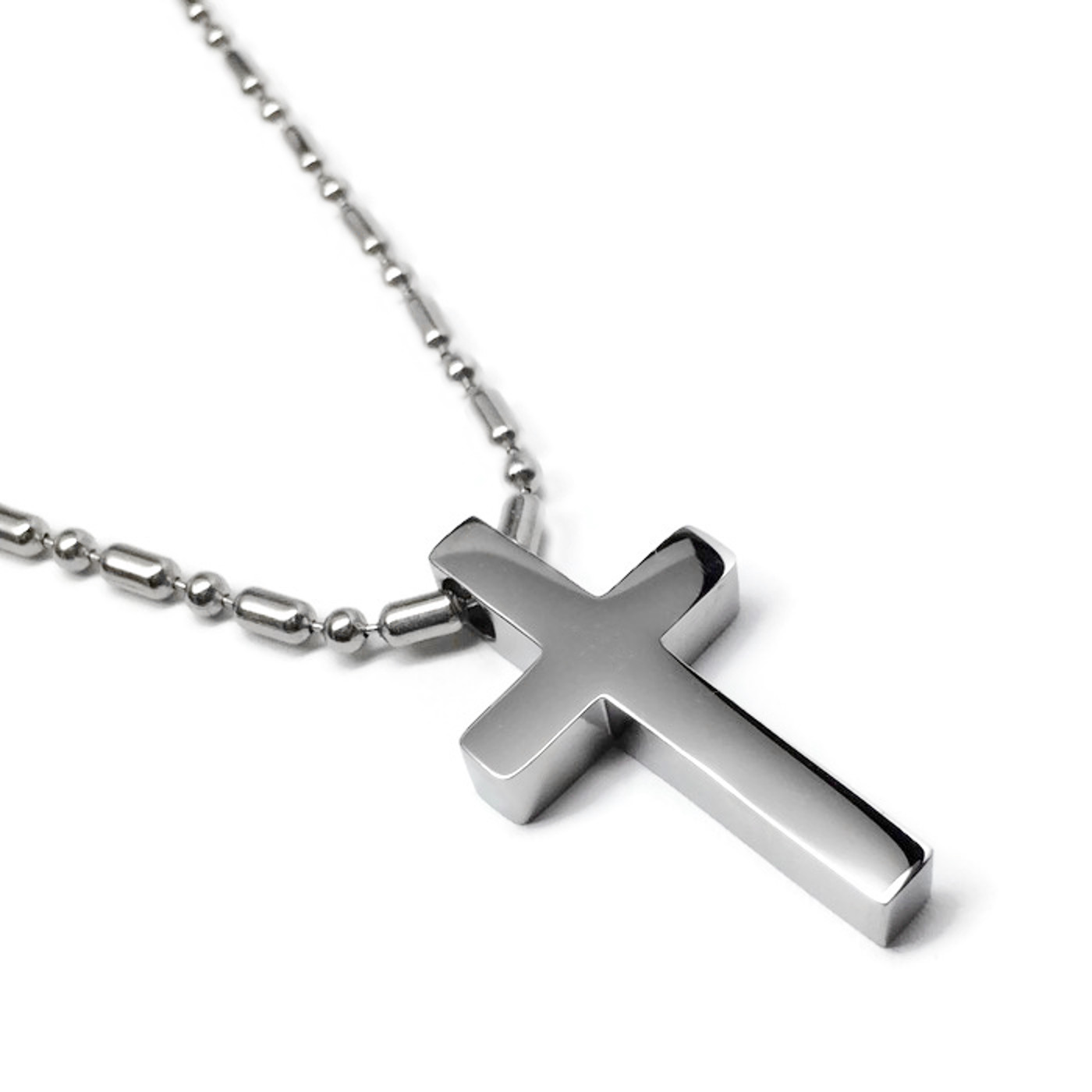 316l hypoallergenic non tarnish hidden hole polished cross for Do pawn shops buy stainless steel jewelry