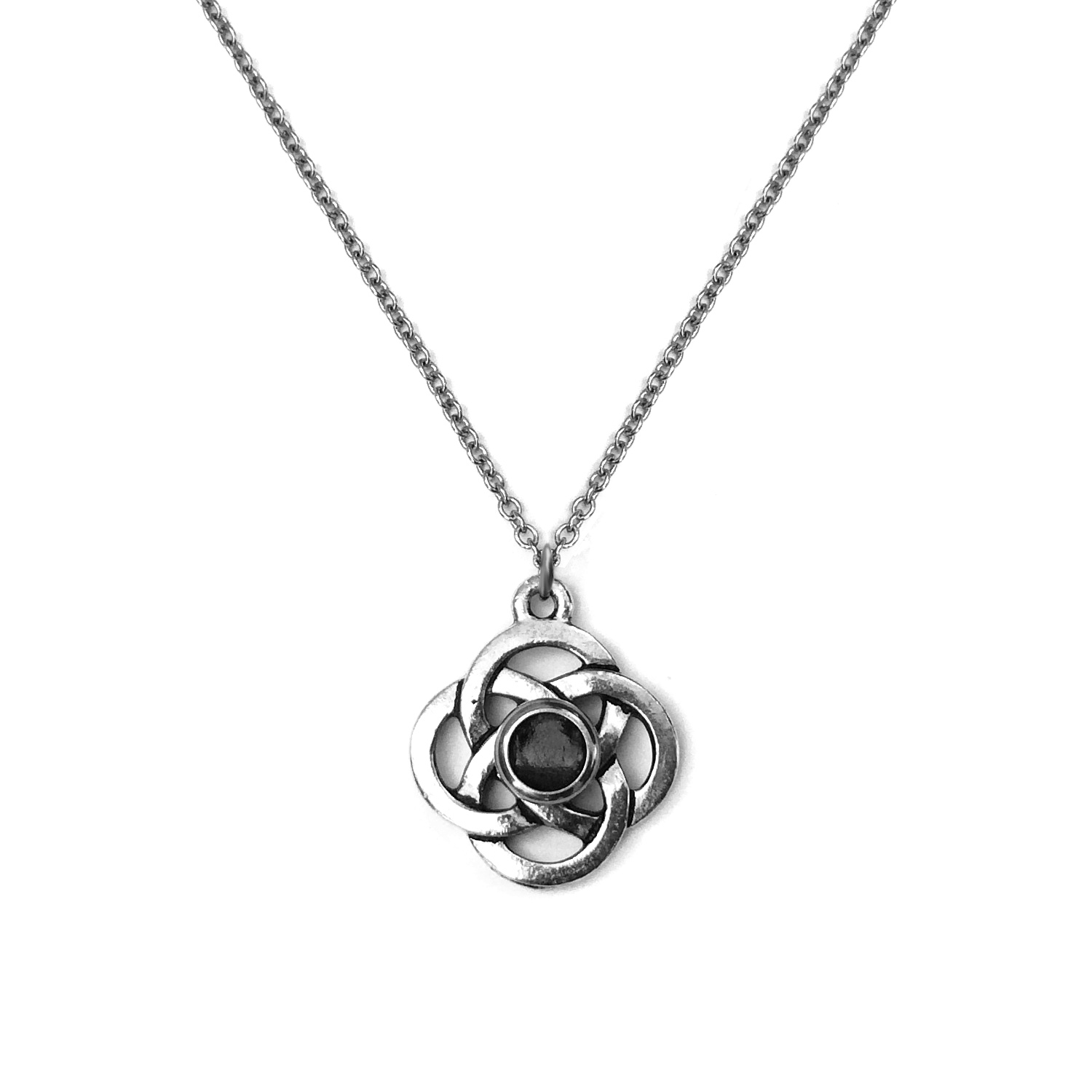 Silver celtic love knot pendant necklace loralyn designs mozeypictures Image collections