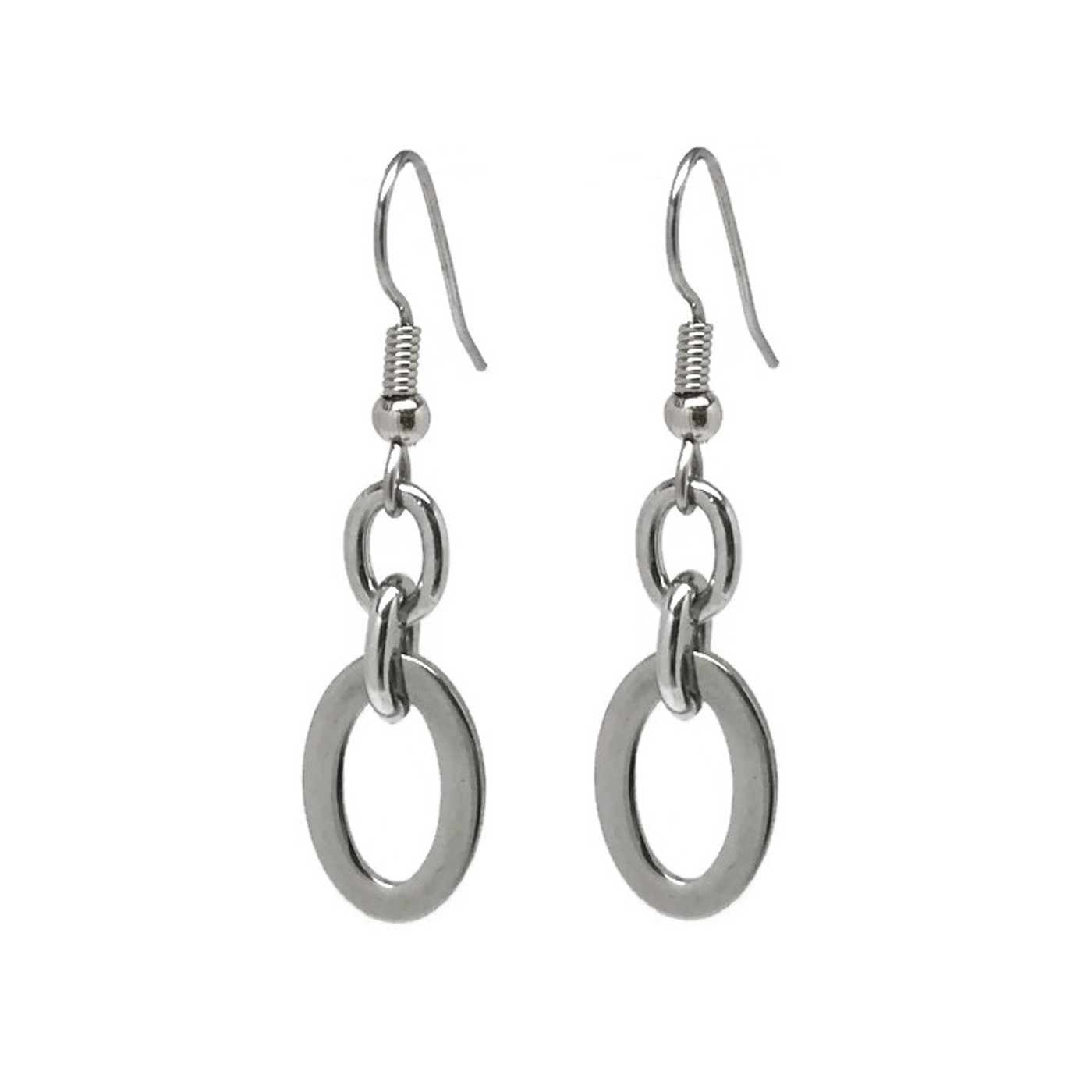 Hypoallergenic Classy Silver Earrings For Her