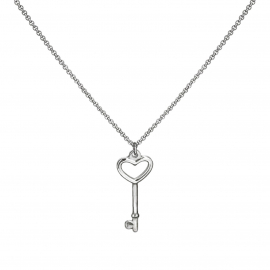 Heart key pendant necklace Valentines Gift for Girlfriend