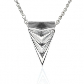 Mens Unusual Arrowhead Necklace Stainless Steel Triangle Geometric