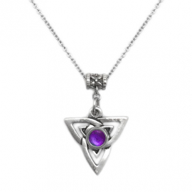 Triquetra Jewelry Celtic Trinity Knot Necklace Pewter and Stainless Steel
