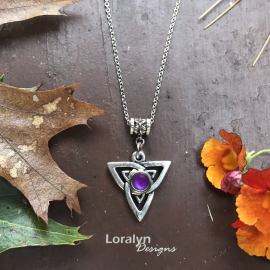 Infinity Triangle Pendant Witchy Vibes Irish Style Edgy Jewelry for Women