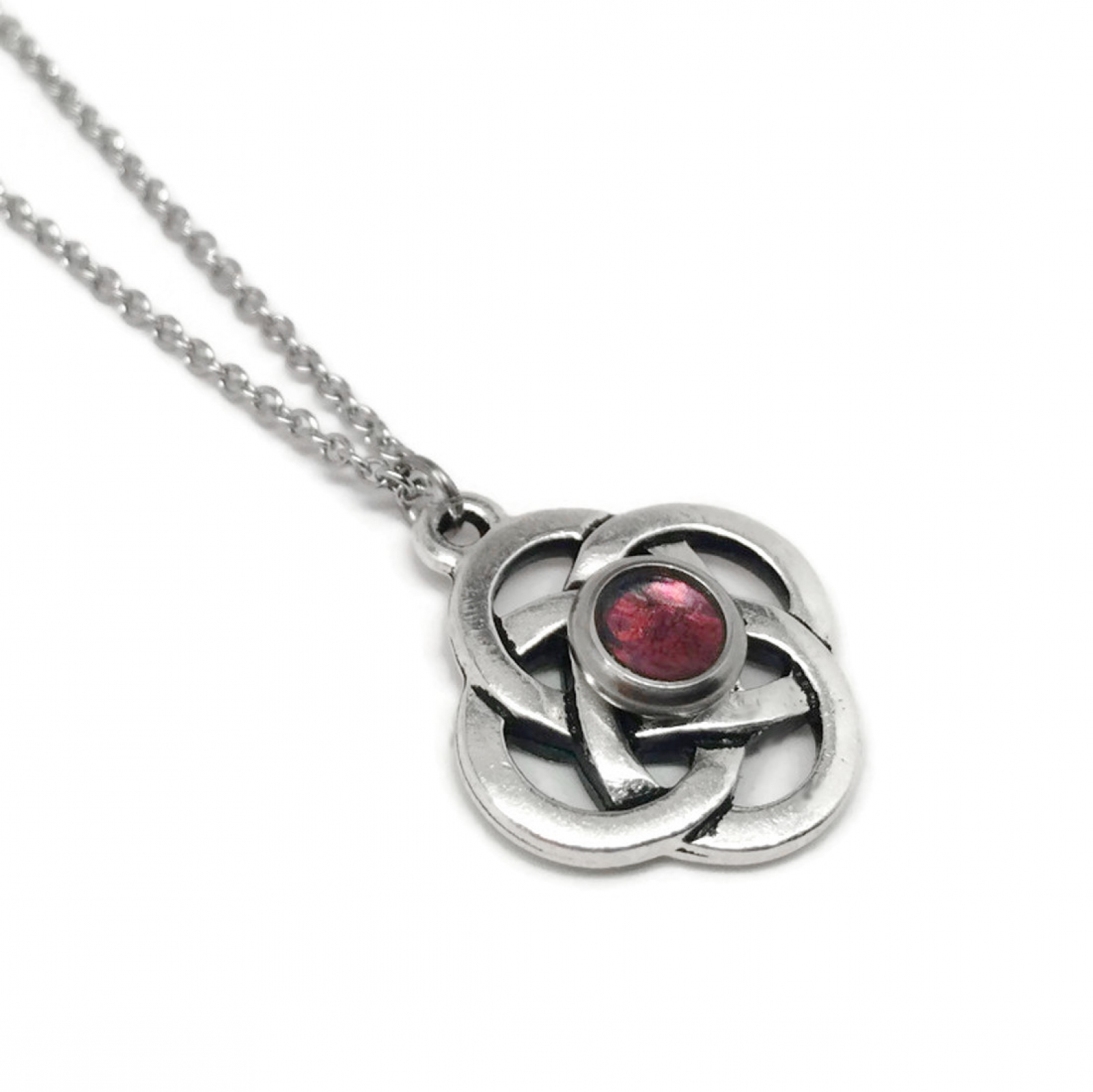 Silver celtic jewelry stainless steel necklace chain color center womens silver celtic celtic designs and meanings infinity jewelry aloadofball Images